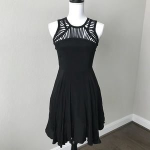 Altar'd State Black fit & Flare Dress